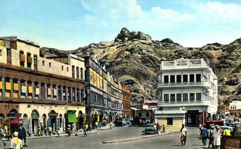 South Arabia (the 1960s) - A street in Crater, Aden