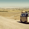 Afghanistan (1958) - Brown's VW van heading west out of Kandahar.