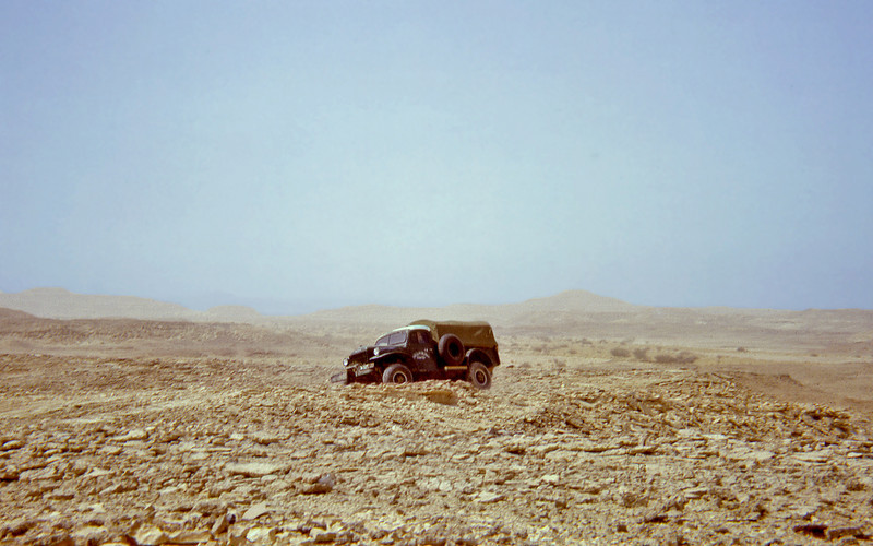 South Arabia (1963) - One of our Power Wagons crossing the Northern Jol.