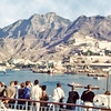 South Arabia (1967) - Steamer Point and Jebel Shamsun viewed from deck of Agelina Lauro.