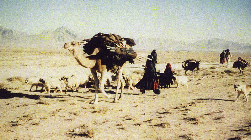 Afghanistan (1958)- Walking with nomads near Kandahar.