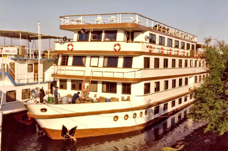 Egypt, Nile Cruise (1982) - Our cruise boat, M.V. Horus.