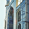Afghanistan, Herat (1958) - the great Friday Mosque (Blue Mosque) in Herat. All colour is minute tilework.