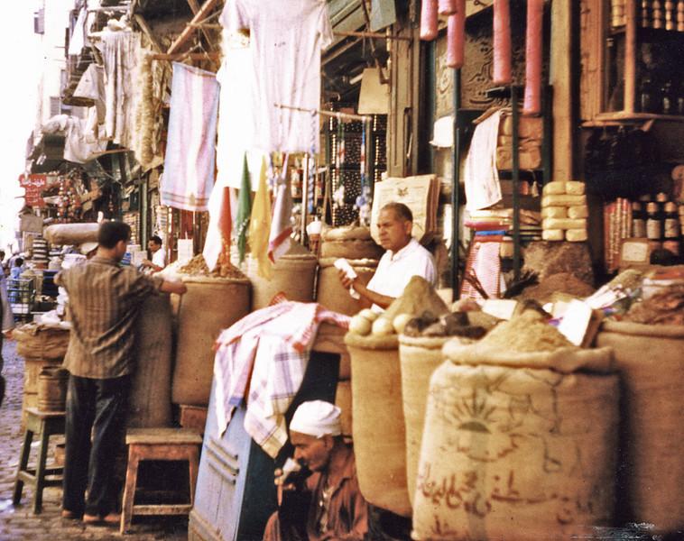 Egypt, Islamic Cairo (1967) - the wonderful Suq al Attarin (Spice Bazaar) in the Khan el Khalili.