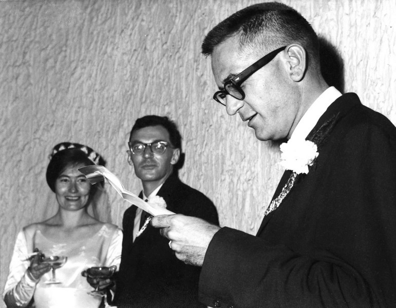 South Arabia (1965) - Me as best man at the weddding of Joe Olegano and his new wife, Irene.