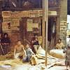 Egypt, Islamic Cairo (1981) - Broom factory just inside the Bab el Nasr.