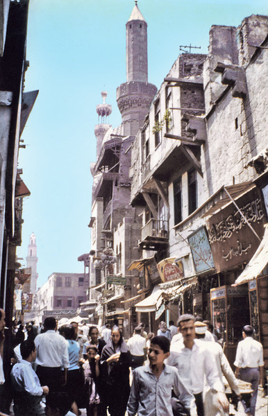 Egypt, Islamic Cairo (1970) - Sharia Mu'izz il-Din Allah, the main street of the old city.