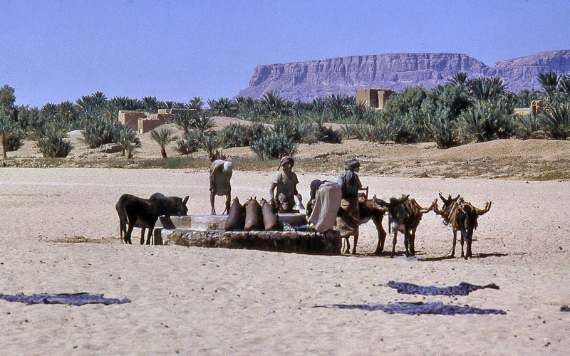 South Arabia (1961) -The well at Bir Asakir, Wadi Hadhramaut.