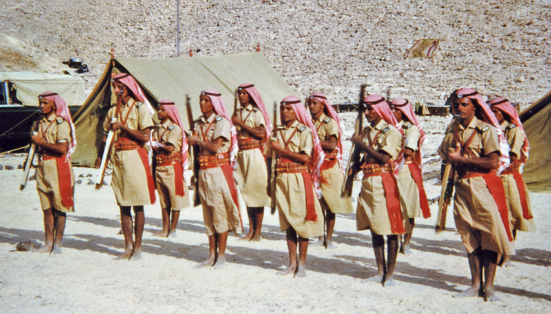 South Arabia (1963) - Hadhramaut Bedouin Legionnaires on Parade.