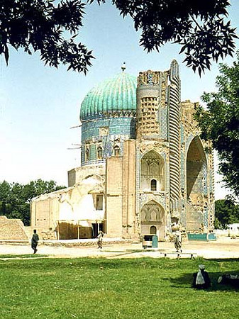 Afghanistan (1958) - The ruins of the Masjid-i-Sabz (Green Mosque) in Balkh. So-called because of its green dome(which looked blue to me)