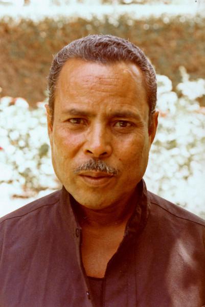 Egypt, Cairo, Ma'adi (1983) - Suleiman, our gardner at no 25.