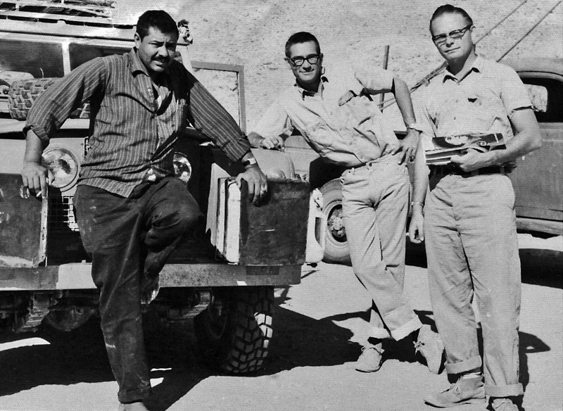 South Arabia (the 1960s) - From left - Ahmad Sa'adi, me, Arne Aadland