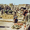 Afghanistan - Herat (1958) - Kharbuzeh and Anar in the vegetable market. Note the apparently ruinous condition of practically every building.