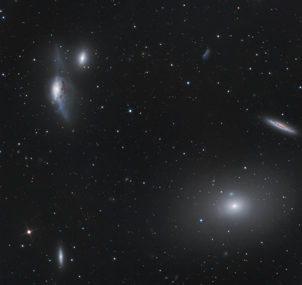NGC 4438 in Markarian's Chain
