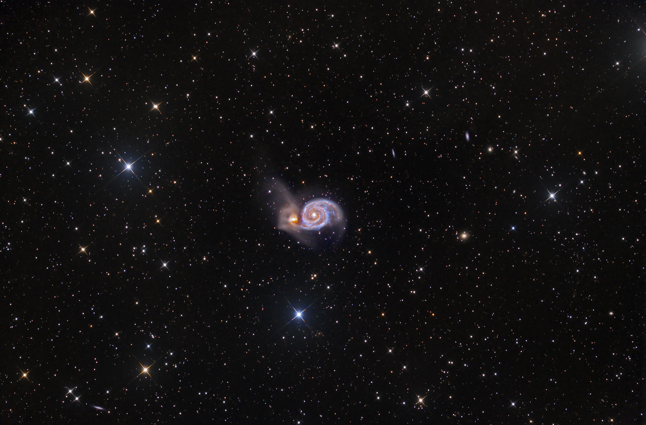 M51 The Whirlpool Galaxy ASA N10 15X1200sec -35C FLI Microline 11002 OSC March 2013 NMSkies Remote