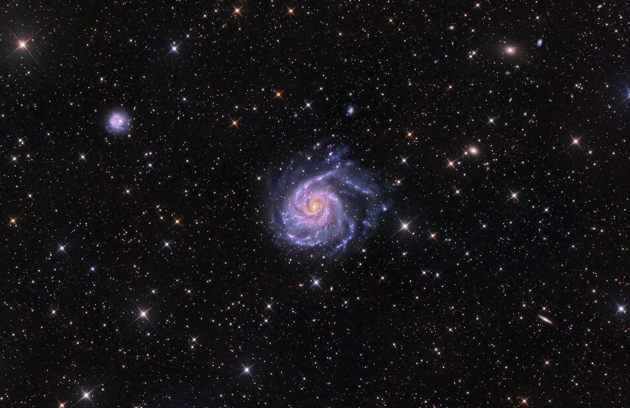 M101 The Pinwheel Galaxy ASA N10 15X1200 sec -40C FLI Mircoline 11002 OSC March 2013 NMSkies Remote