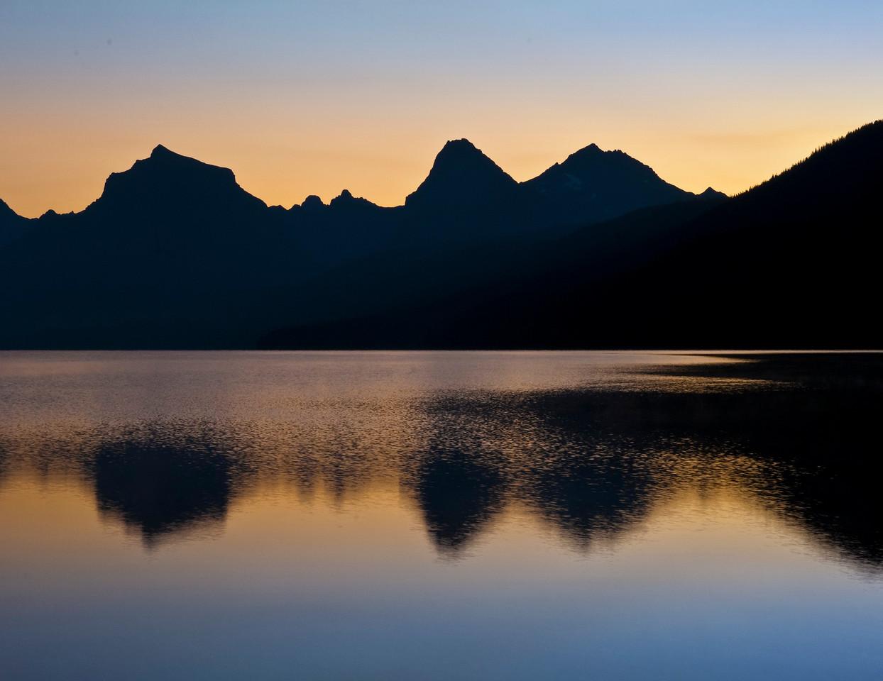 Silhouette Mountain Range