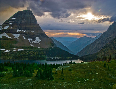 Sunset At Hidden Lake, Glacier National Park