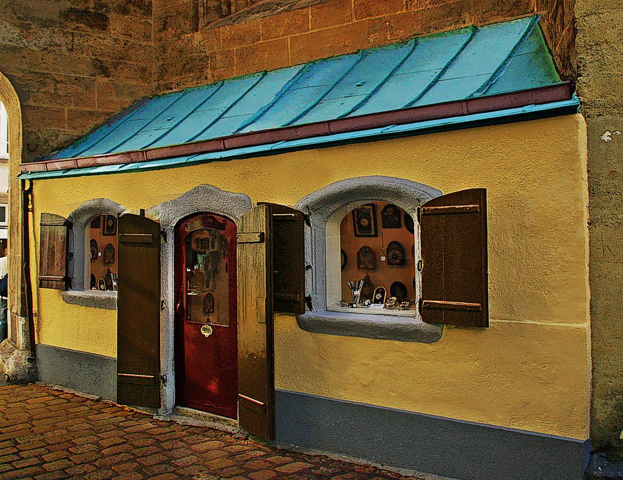 Quaint European Repair Shop