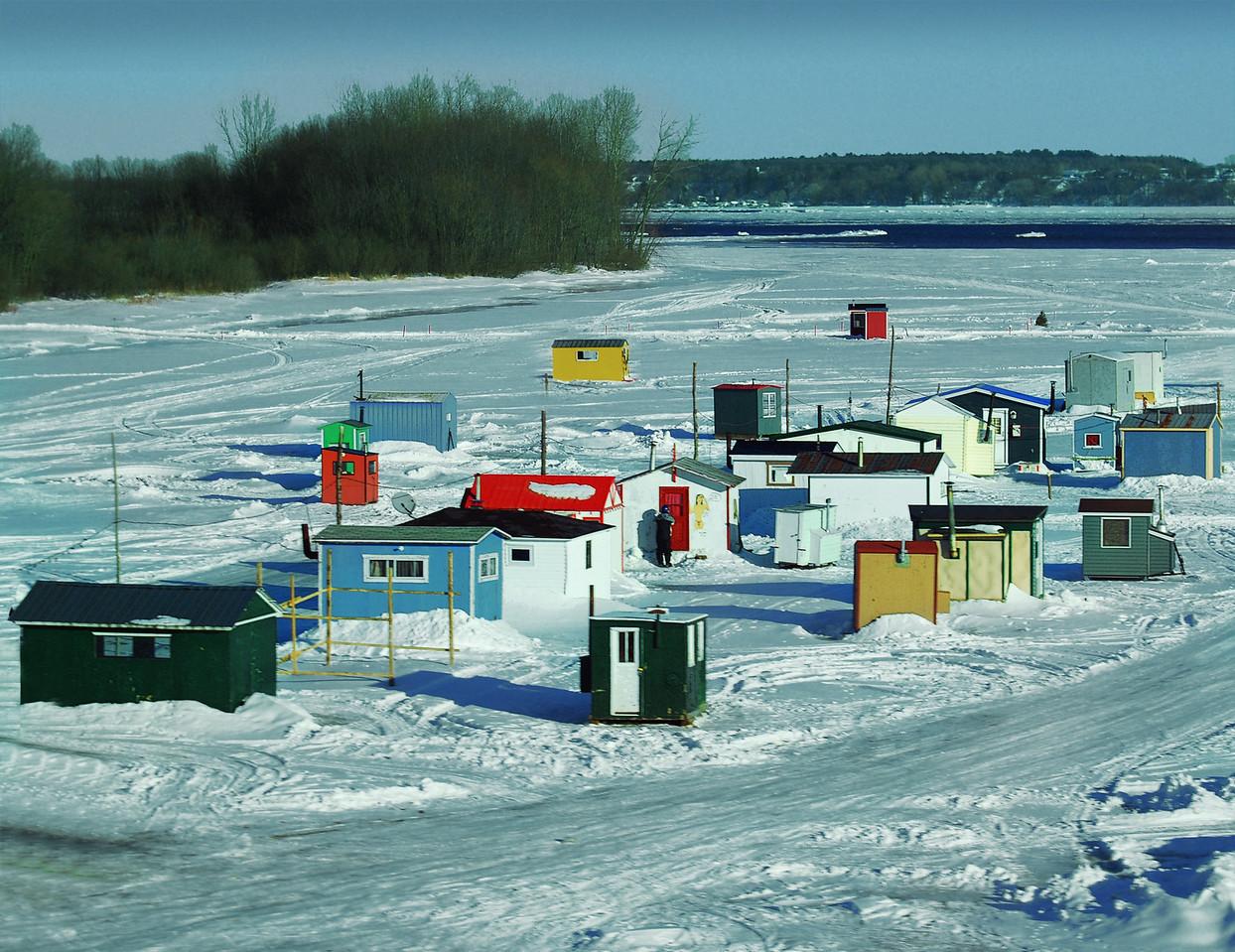 Quebec Ice Fishing Village
