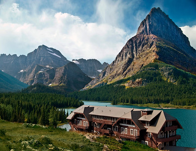 Many Glacier Hotel & View