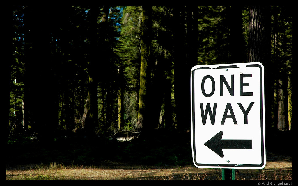 One Way taken at Yosemite National Park.