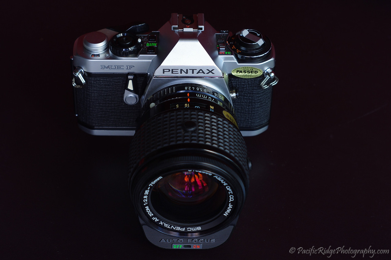 "here is a ""New"" (old stock) Pentax ME F that was apparently never used.  This line was the worlds first auto focus camera."