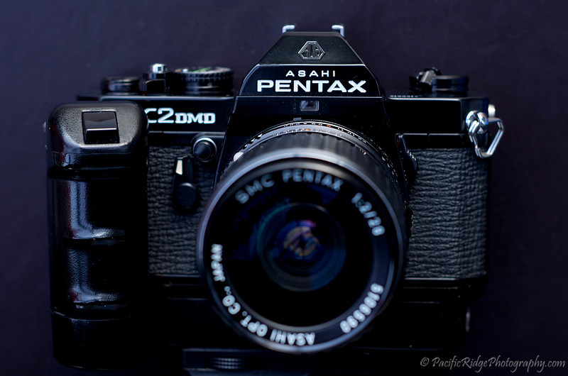 here is my 1976 Pentax K2DMD Motor Drive with a K28/2.0