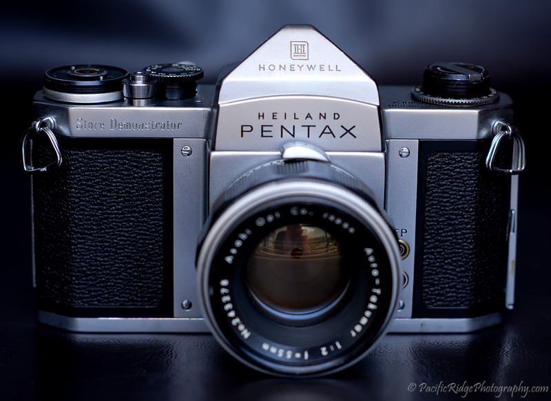 Here is my Pentax H2 Store Demonstrator.  These were built in 1959 and shipped to store owners for obvious use on the store floor.