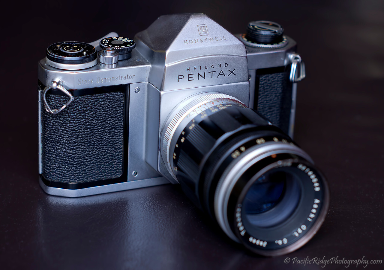 Here is the Pentax H2 Store Demonstrator, but this time with a Takumar 100mm f3.5.  Both the camera and this particular lens are extremely rare.