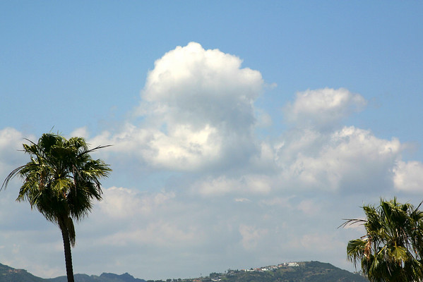 Clouds over the Santa Monica Mountains