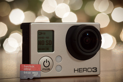 When paired with this tiny bugger, the Hero3 will be able to record up to 9.6 hours of full HD video, but I will likely be shooting with the maximum bitrate, higher resolution Protune modes