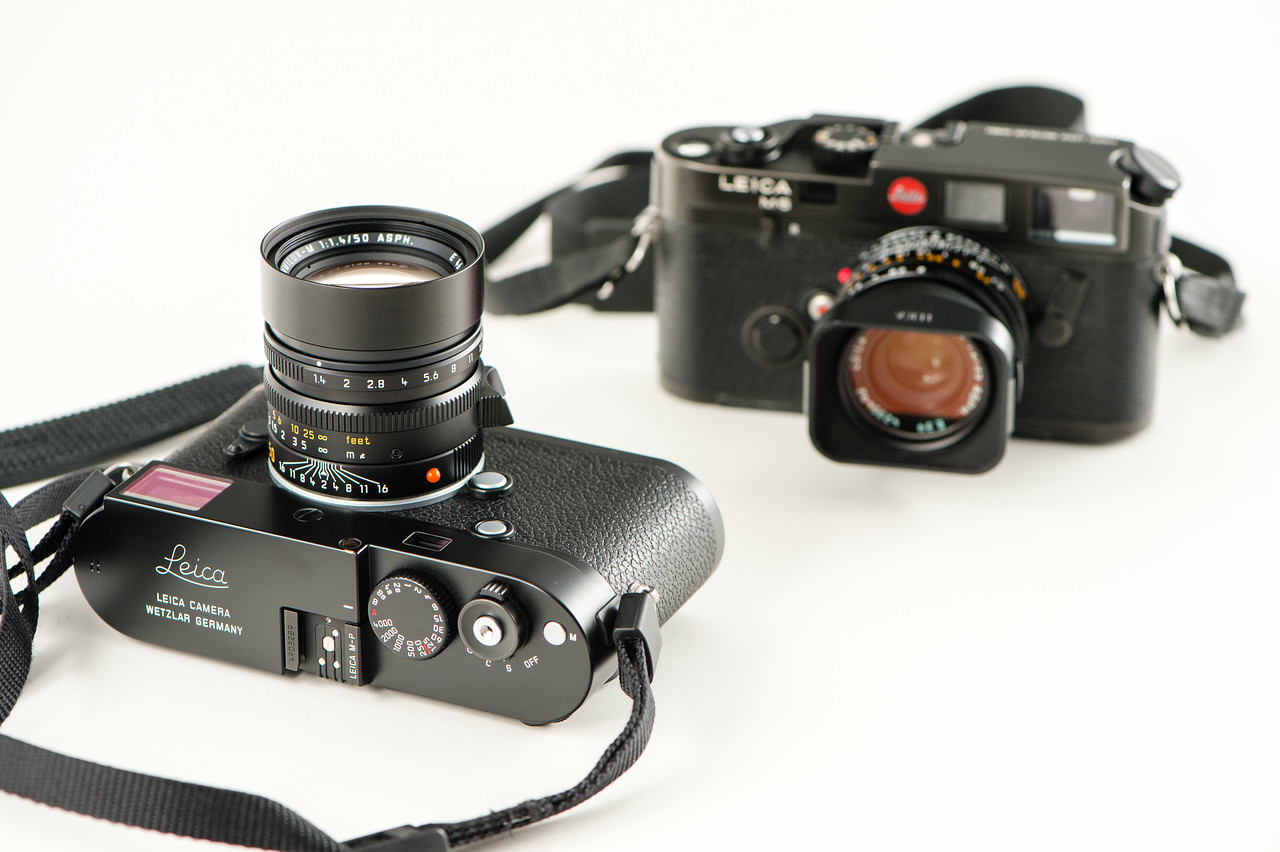 Leica M-P 240 & Summilux 50mm ASPH (2014). In the background, an early (1985) Leica M6 with a Summicron 35mm ASPH (1996).