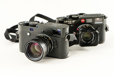 My two Leica M bodies : an old Leica M6 and a digital M-P 240.