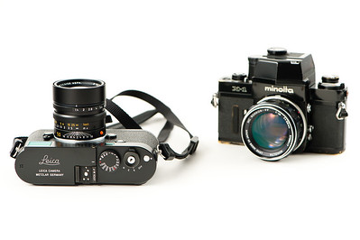 Leica M-P 240 . In the background, an old Minolta X1.