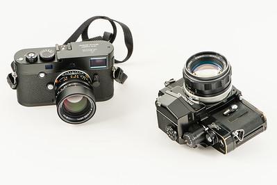 My Leica M-P 240 and my (new) old japanese Minolta X1.