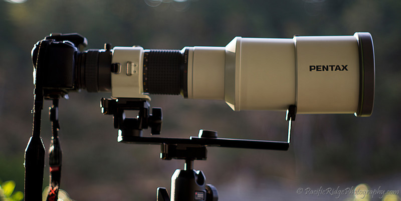"Placing the lens on a tripod via a Manfrotto ""Long Lens Support"" helps balance the lens, but now there is an issue with lateral balance, especially when used with a ball head tripod mount."