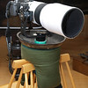 My self made bean bag, here with the Zuiko Digital 90-250/2.8 and E-510 mounted on a Jobu Jr. Gimbal head on my (ex-frying)-pan-pod. Approximately 2.5 kg sunflower seeds fill.