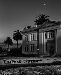 Chapman University converted to B&W in post.