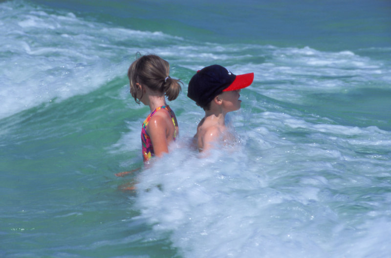 Kids at play in Destin, Florida 6/96