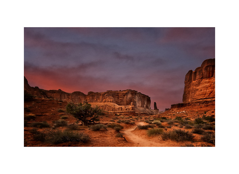 Morning at the Arches National Park<br /> Utah
