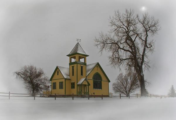 Highland Lake Church Built in 1896 Featured in Die Hard II Movie Located near Berthoud Colorado