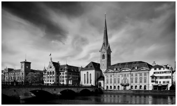 Fraumunster Church Zurich Switzerland