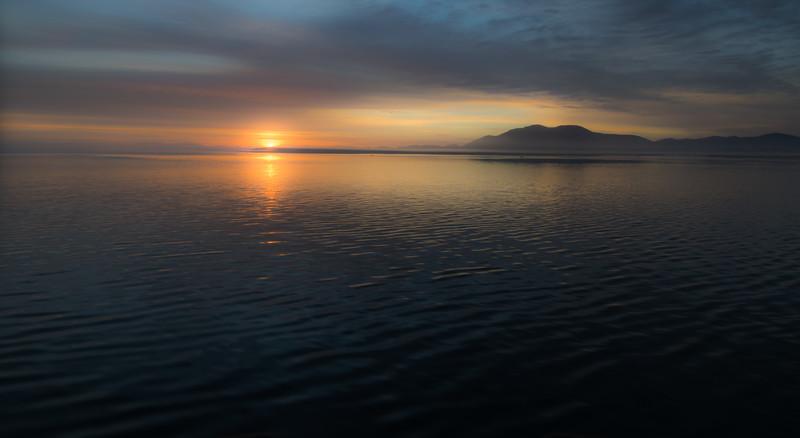 Alaska Inside Passage Sun Rise