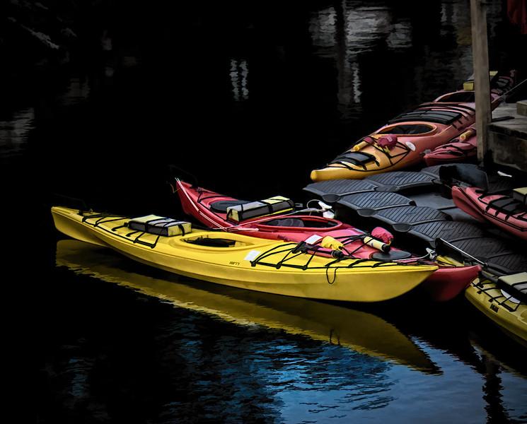 Kayaks at Victoria