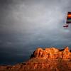 Para Glider over the Colorado River<br /> Moab Utah