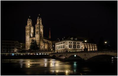 Zurich Switzerland  at Night