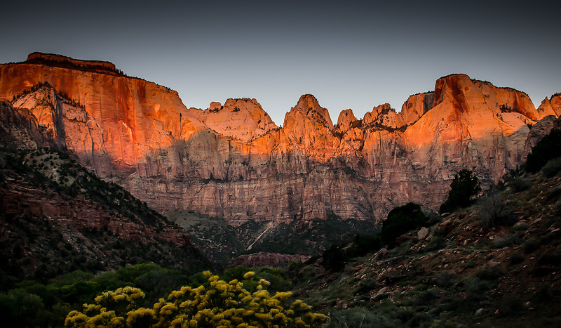 Sunrise at Zion National Park