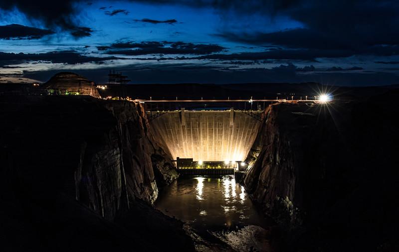 Glen Canyon Dam at Night