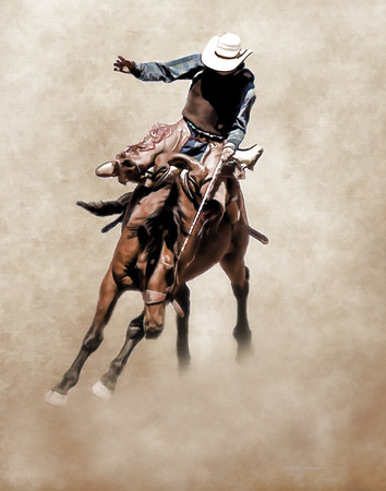 Keensburg Rodeo Bronc Rider